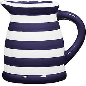 Blue and White Stripe Pitcher