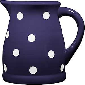 Blue and White Dots Pitcher