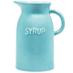 Blue Syrup Pitcher