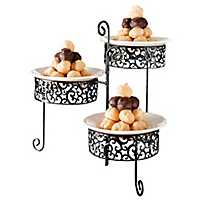 Danbury Scroll 3-Tier Plate Stand