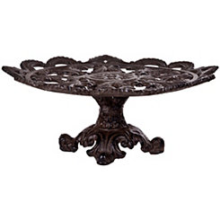 Cast Iron Scroll Cake Stand