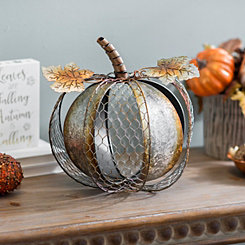 Galvanized Chicken Wire Pumpkin
