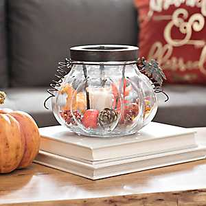 Glass Pumpkin Lantern
