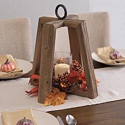 Rustic Harvest Wooden Lantern