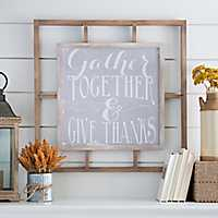Gather Together Windowpane Wall Plaque