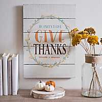 In Everything Give Thanks Wood Plank Plaque