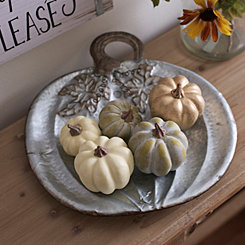 Galvanized Pumpkin Tray