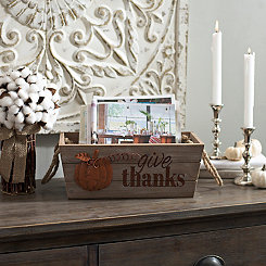 Give Thanks Wooden Crate