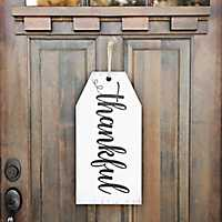 Thankful Tag Wooden Wall Plaque