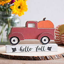 Hello Fall Truck Block