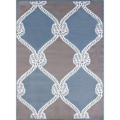 Blue Cordage Area Rug, 5x8