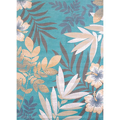 Blue Sea Garden Area Rug, 5x7