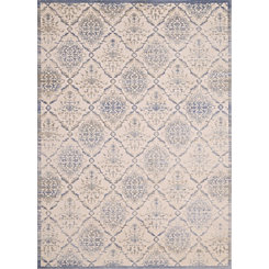 Light Blue Elegant Trellis Area Rug, 5x8