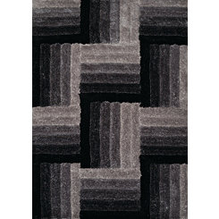 Black Flagstone Area Rug, 5x8