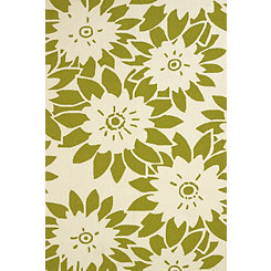 Lime Garden Canvas Area Rug, 5x8