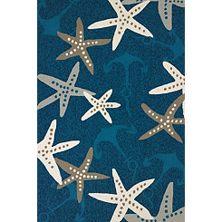 Cyan Anchors Away Area Rug, 5x8