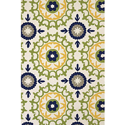 Green Carousel Apple Area Rug, 5x8