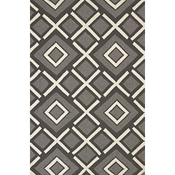 Charcoal Diamond Stone Area Rug, 5x8