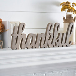Thankful Cutout Word Runner