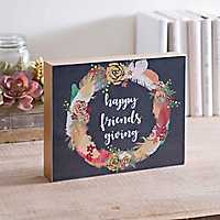 Happy Friendsgiving Wreath Word Block