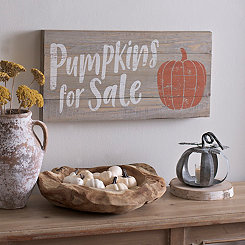 Pumpkins For Sale Wood Plank Plaque