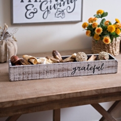 Whitewashed Grateful Wooden Box