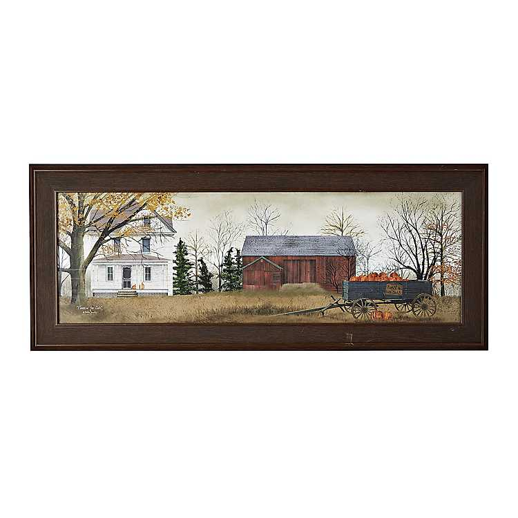 Harvest pumpkins for sale framed art print kirklands for Art print for sale