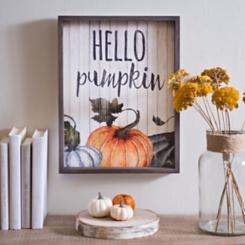 Hello Pumpkin Wooden Wall Plaque