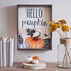 Hello Pumpkin Wooden Wall Plaque