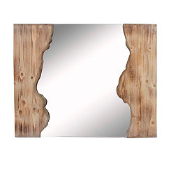 Wooden Chasm Wall Mirror