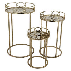 Old Gold Nesting Tables, Set of 3