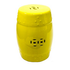 Lemon Ceramic Garden Stool