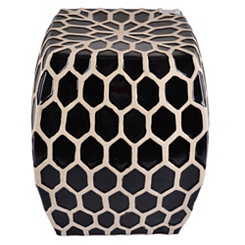 Lattice Grid Garden Stool