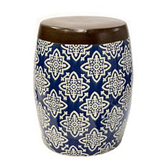Medallion Ceramic Garden Stool