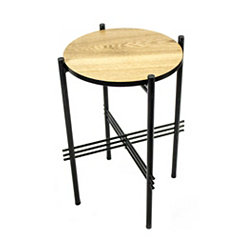 Small Metal and Wood Accent Table