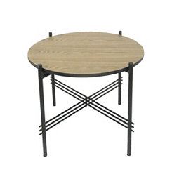 Large Metal and Wood Accent Table