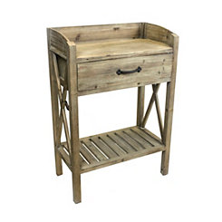 Rustic Natural Wood Accent Table
