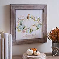 Welcome Fall Framed Art Print