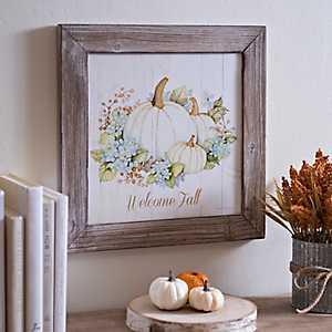 Welcome Fall Framed Art Print
