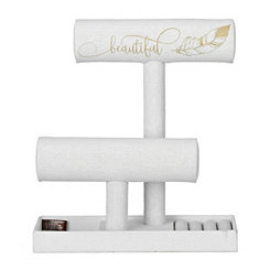 Beautiful Feather Jewelry Stand