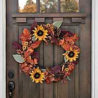 Sunflower Leaves Mix Wreath