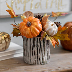 Metallic Harvest Pumpkin Arrangement