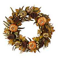 Metallic Pumpkin Wreath
