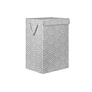Gray Stripe Fan Collapsible Fabric Laundry Hamper