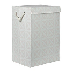 Pink Lattice Collapsible Fabric Laundry Hamper
