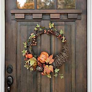 Cornucopia Pumpkin Wreath