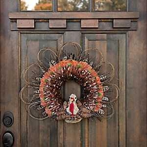 Wood Chip Turkey Wreath