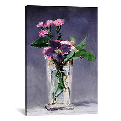 Ragged Robins And Clematis Canvas Art Print