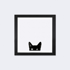 Curiosity Cat Framed Art Print