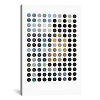 Modern Earthy Dots Canvas Art Print